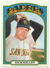 1972 Topps Baseball Cards      412     Dick Kelley